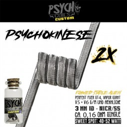 Psycho Coils Psychokinese NiCr/V2A Handmade Coil